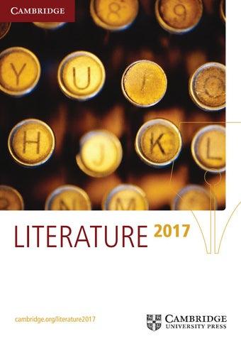 Literature Catalogue 2017 By Cambridge University Press Issuu
