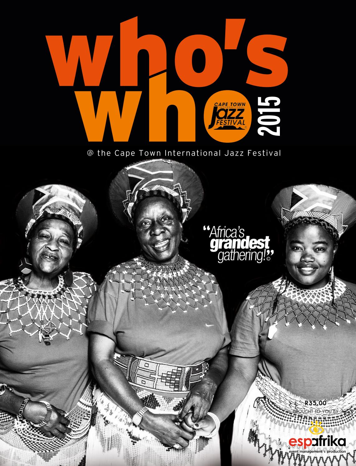 Who's Who 2015 - The Cape Town International Jazz Festival