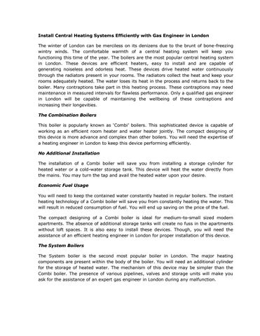 Heating Engineer London by Gas Engineer London - issuu