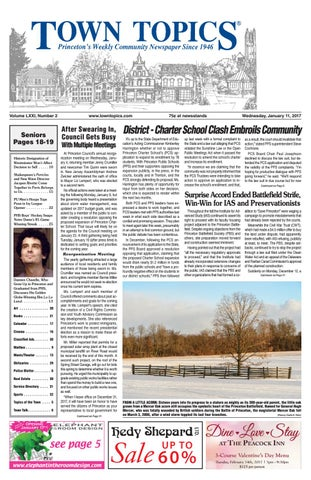 Town Topics Newspaper January 11, 2017 by Witherspoon Media
