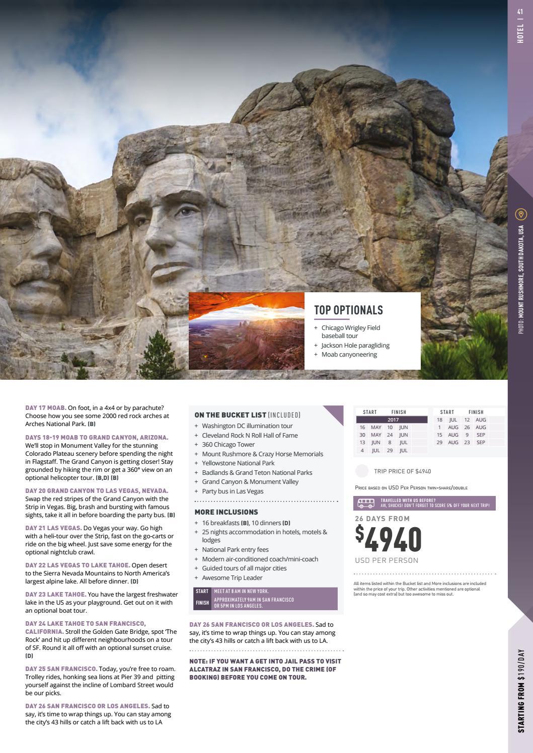 Topdeck - USA e Canadá - 2017/2018 by MMTGapnet Tours - issuu