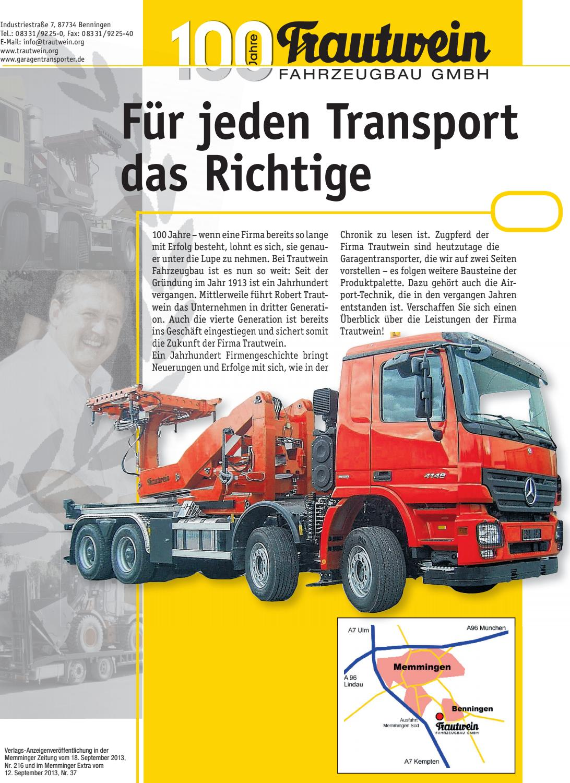 100 Jahre Trautwein Fahrzeugbau By Rtadesign Gmbh Issuu