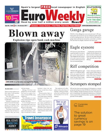 Euro weekly news axarquia 12 18 january 2017 issue 1645 by euro page 1 fandeluxe