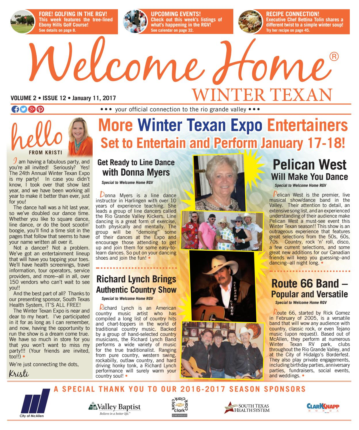 Welcome Home Winter Texan : Vol 2 Issue 12 : January 11, 2017 By Kristi  Collier  Issuu