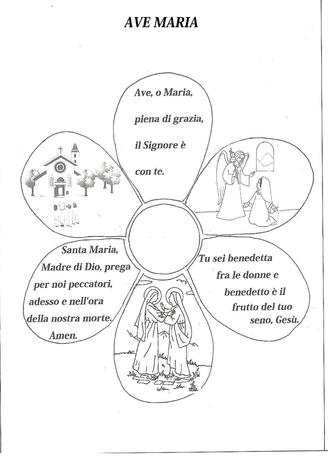 Ave maria da colorare by celestina bianchi issuu for Lepre immagini da stampare