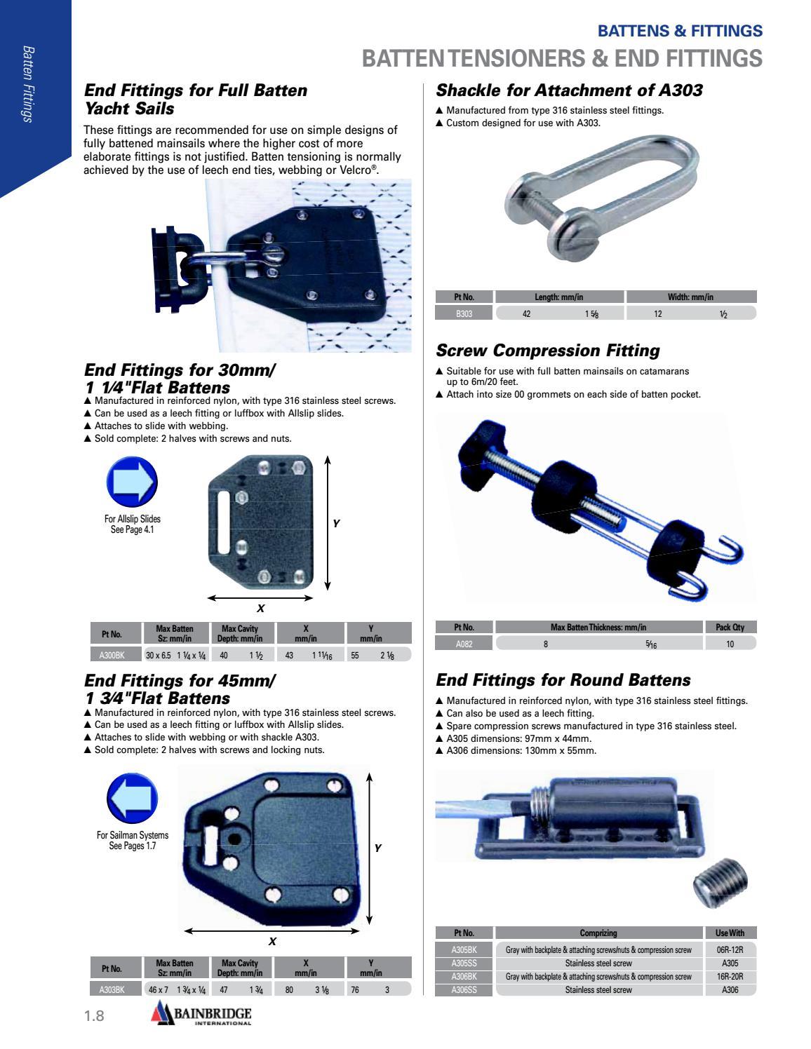 Marine Hardware & Sailmaking Catalog by Bainbridge International - issuu