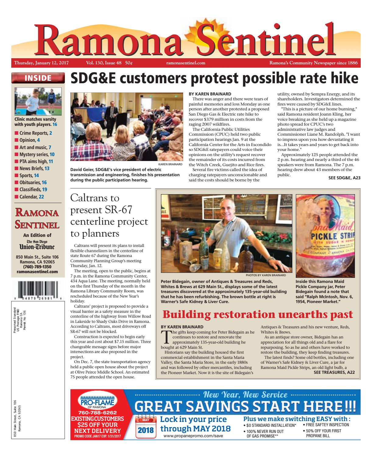 Ramona sentinel 01 12 17 by MainStreet Media - issuu