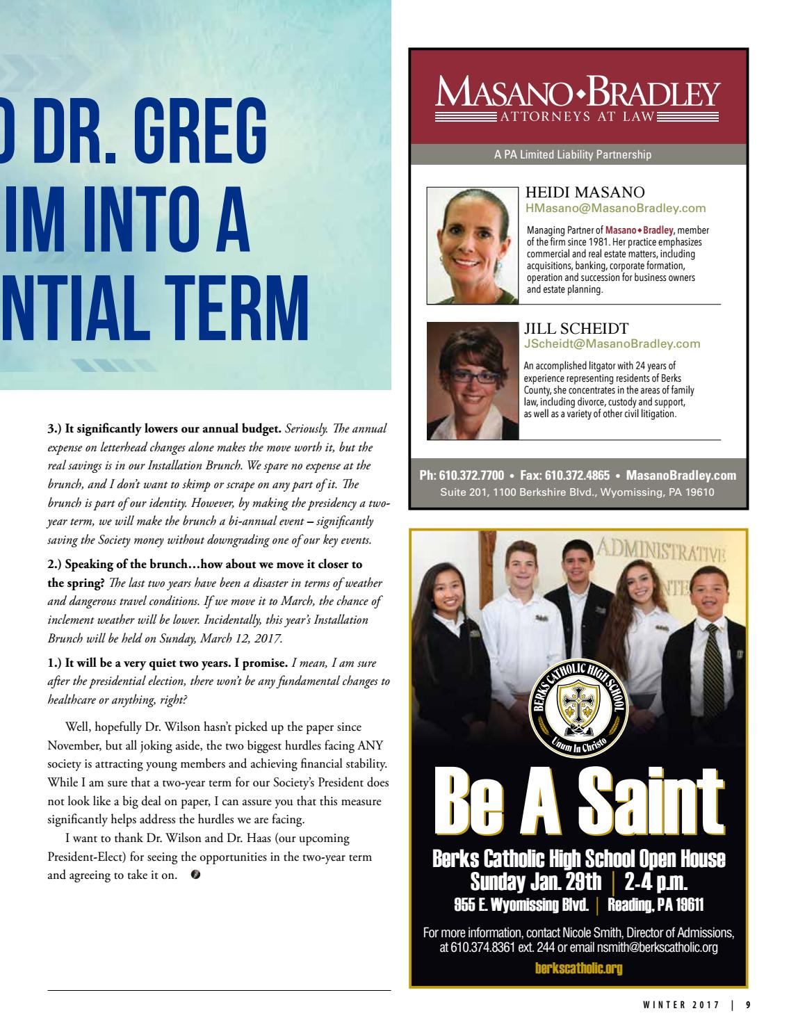 Berks County Medical Society Medical Record Winter 2017 by