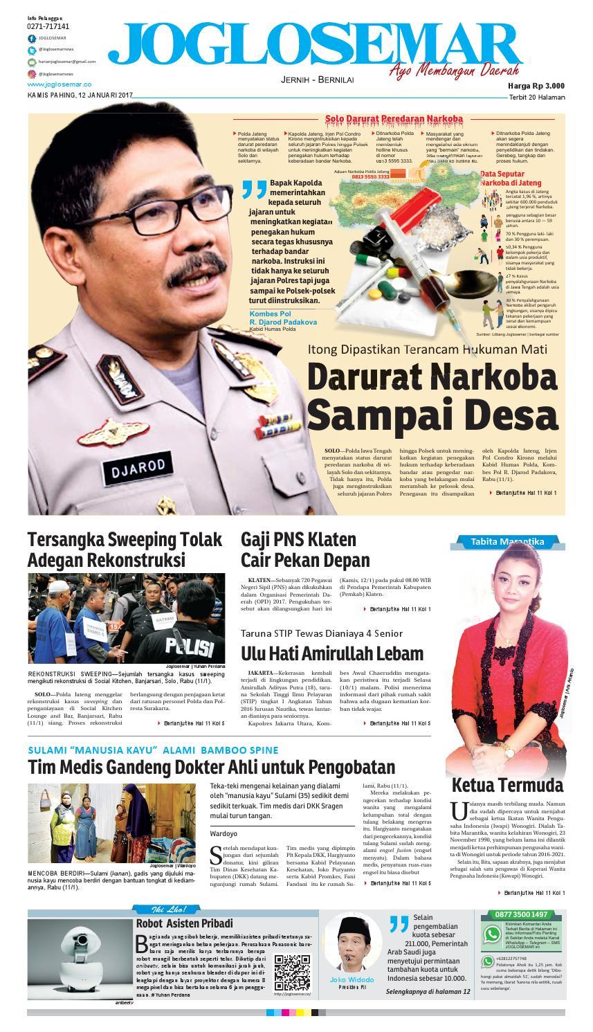 E Paper 12 Januari 2017 By Pt Joglosemar Prima Media Issuu Produk Ukm Bumn Telur Ayam Segar Ampamp  Depok