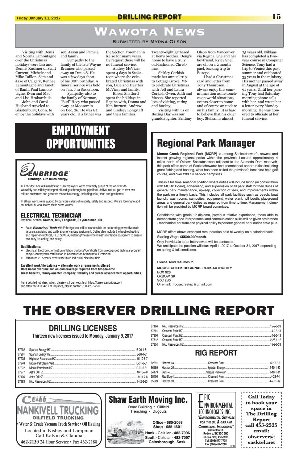 Carlyle Observer: Jan  13, 2017 by Carlyle Observer - issuu