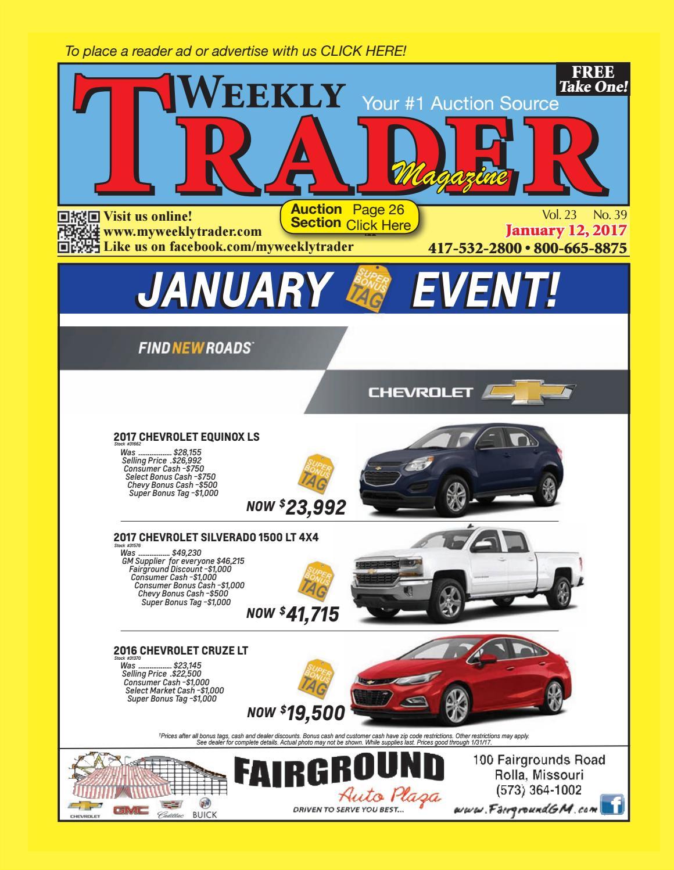 Weekly Trader January 12, 2017 By Weekly Trader   Issuu
