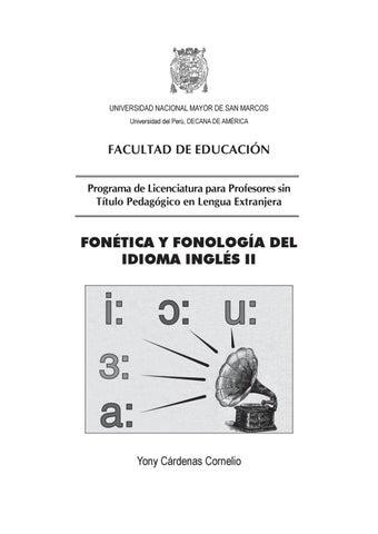fonética y fono inglés ii by unmsm prolex issuu