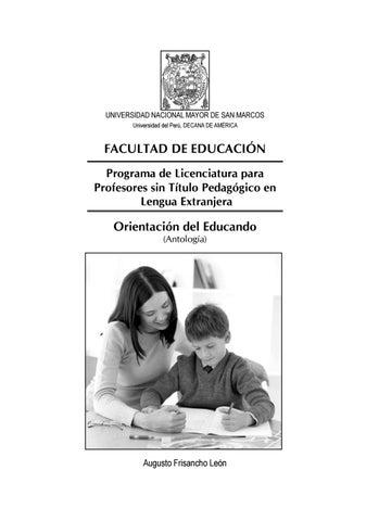 Orientación del educando by UNMSM-PROLEX - issuu