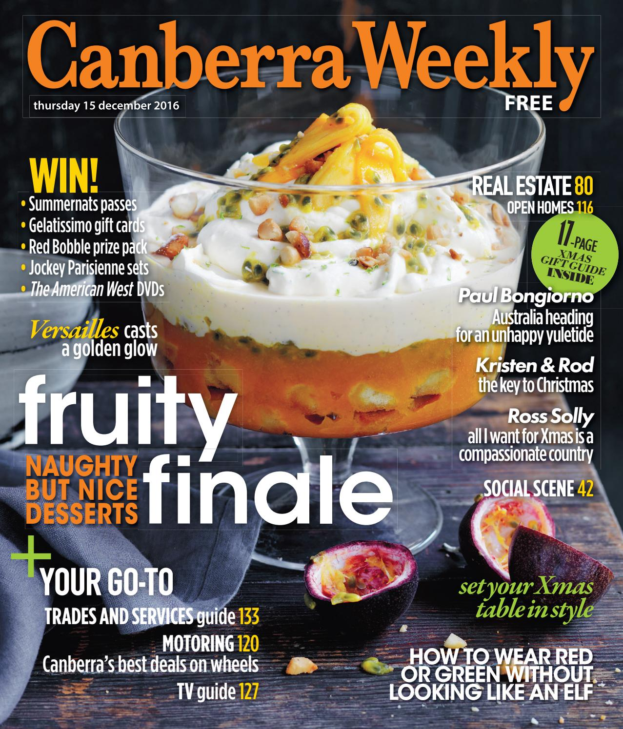 15 December 2016 By Canberra Weekly Magazine Issuu Pressure Cooker Tebus Double Pan Piknik Set Locksy