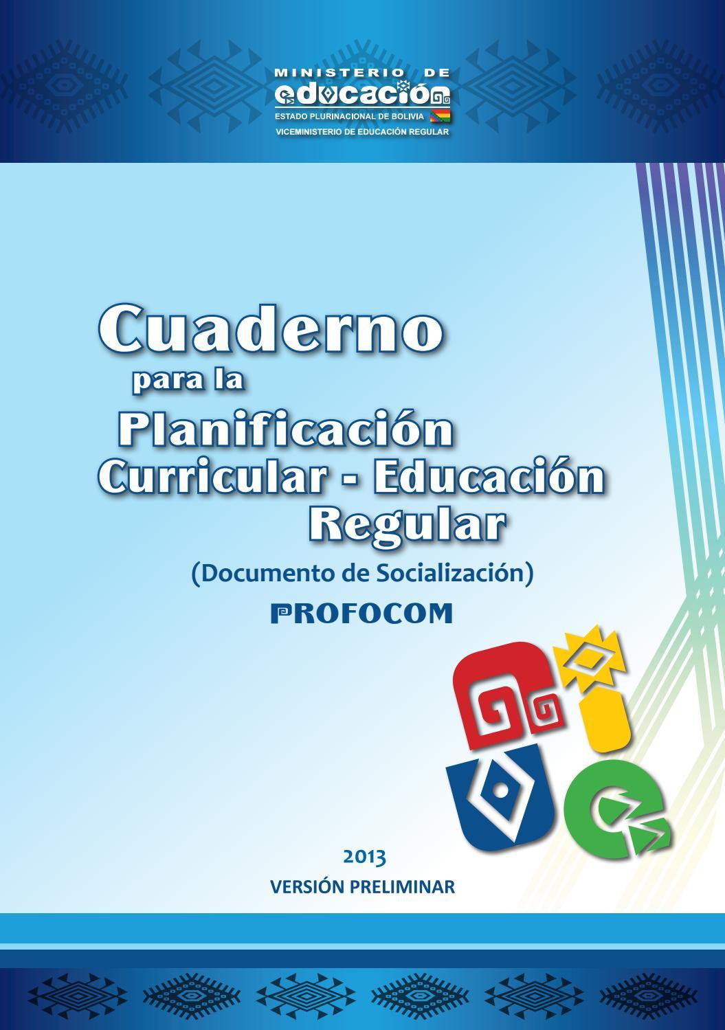 Planificación Curricular Educación Regular Bolivia By