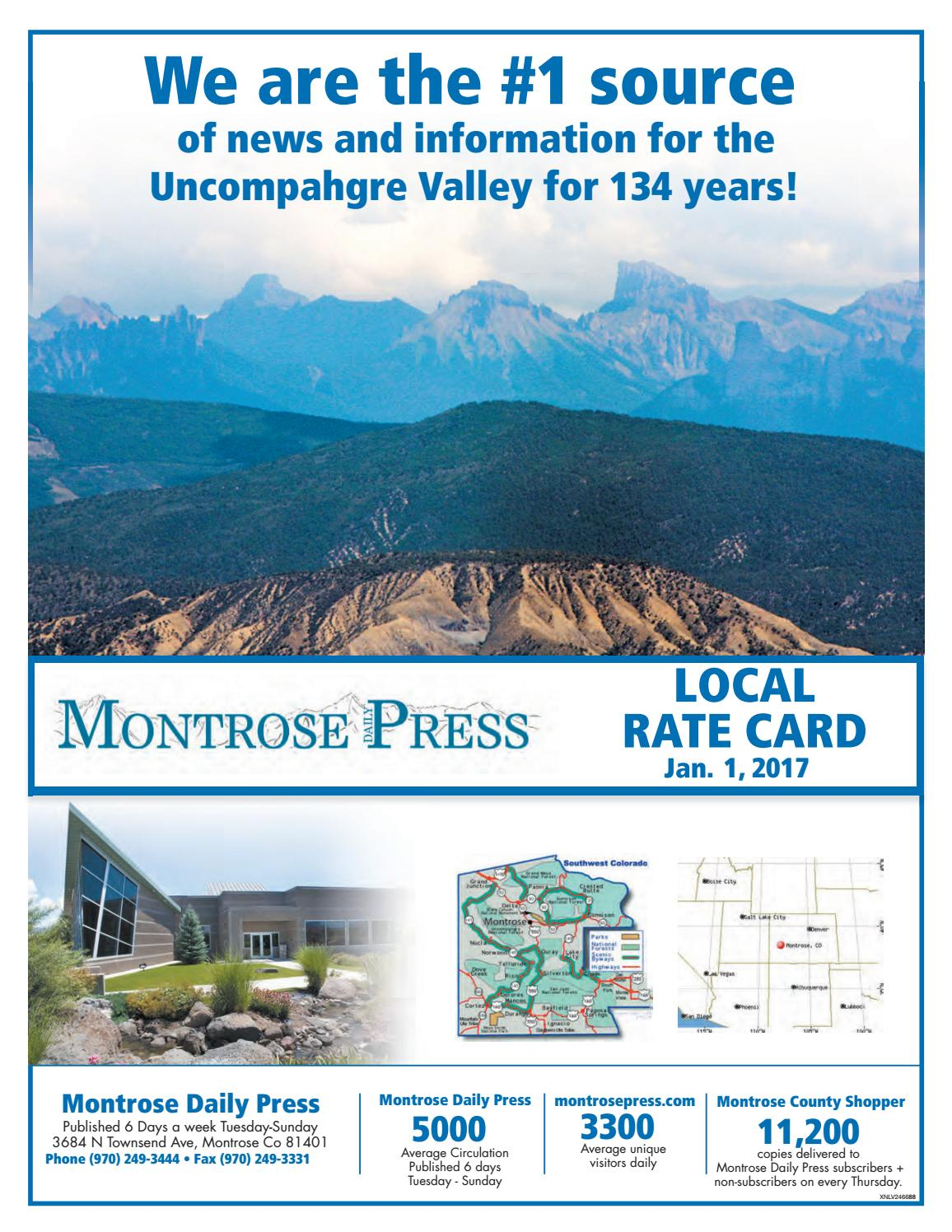 Montrose daily press 2017 rate card by Wick Communications ...