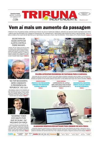 b42705b8a Edição Número 2815 - 12 de Janeiro de 2017 by Tribuna Hoje - issuu