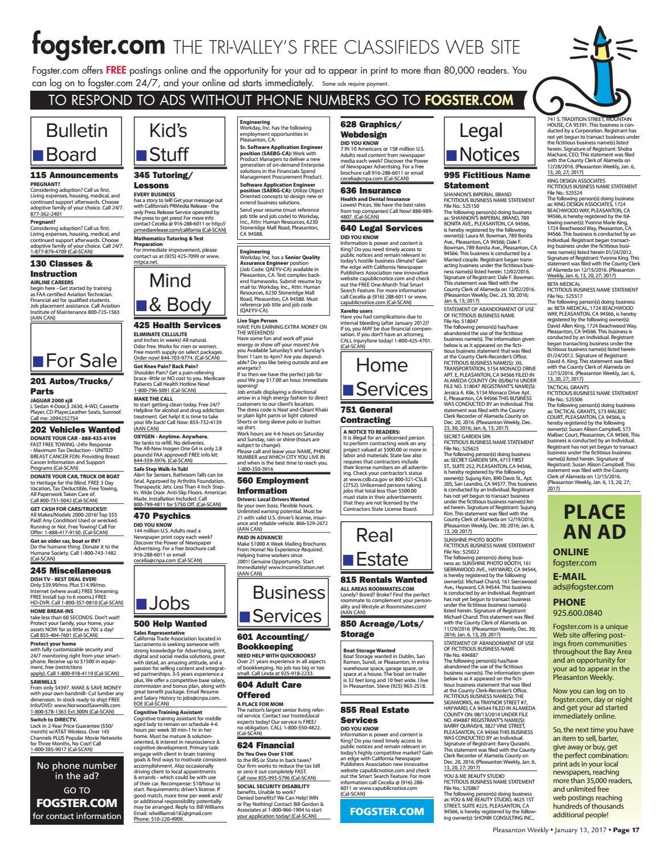 Pleasanton Weekly January 13, 2017 by Pleasanton Weekly - issuu