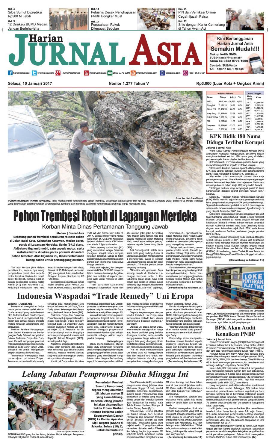 Harian Jurnal Asia Edisi Selasa 10 Januari 2017 By Produk Ukm Bumn Chesse Pie Khas Balikpapan Medan Issuu