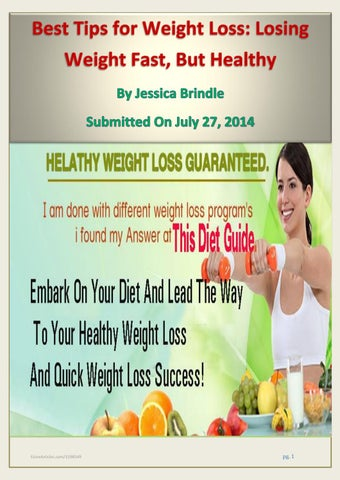 Best Tips For Weight Loss Losing Weight Fast But Healthy By Ashley