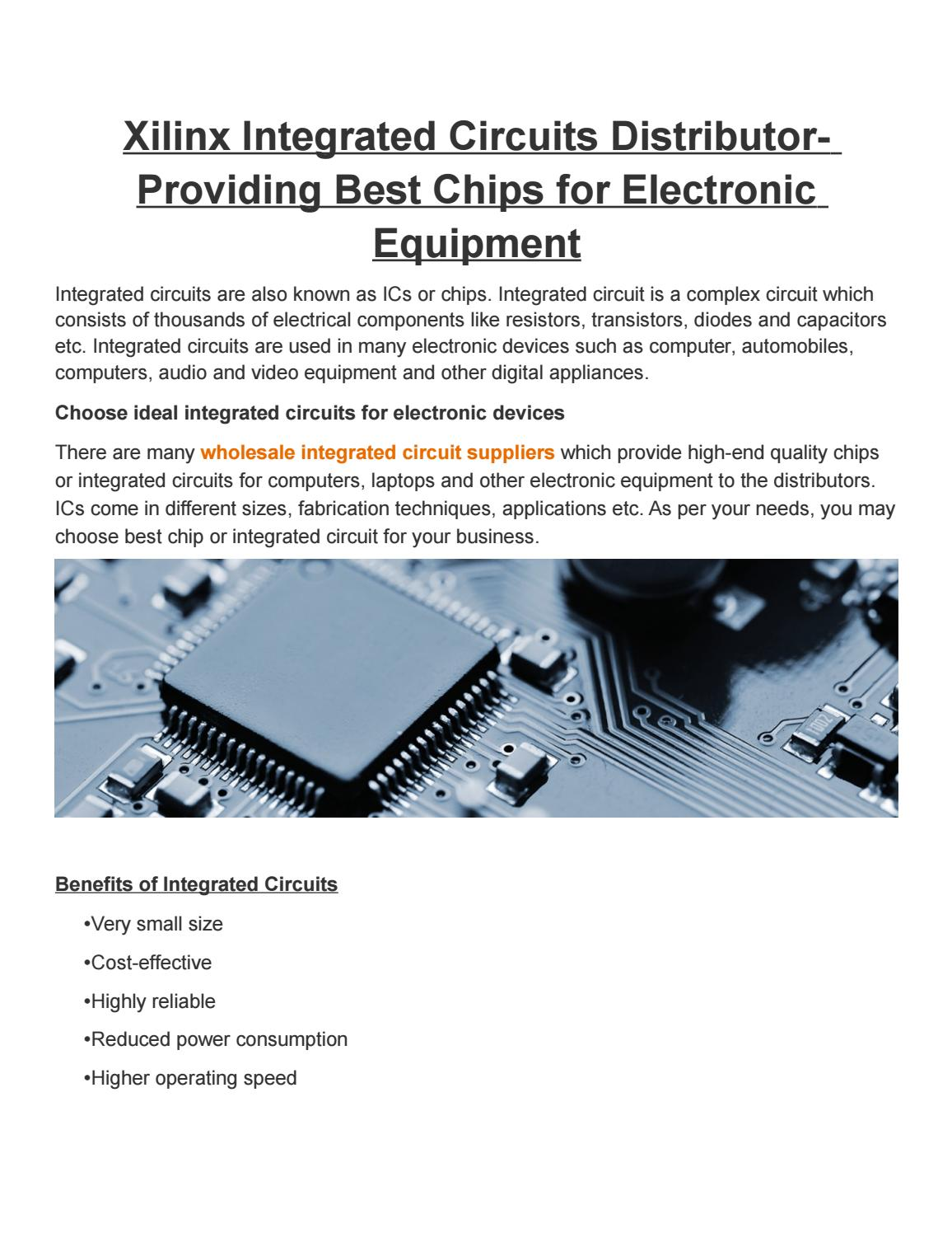 Xilinx Integrated Circuits Distributor Providing Best Chips For Icintegrated Circuit Ic Chip Component Electronic Equipment By Express Technology Issuu