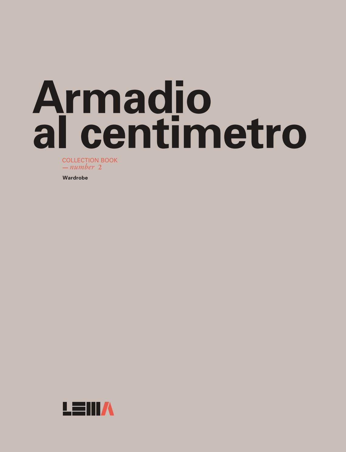 XTRA 2016 lema armadio al centimetro collection book by XTRA ...
