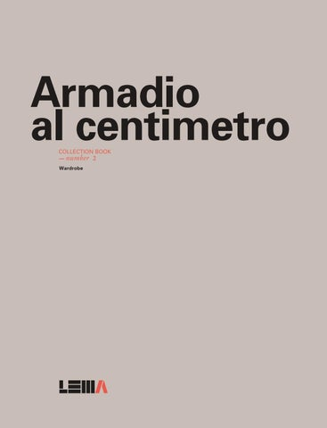 XTRA 2016 lema armadio al centimetro collection book by XTRA ...