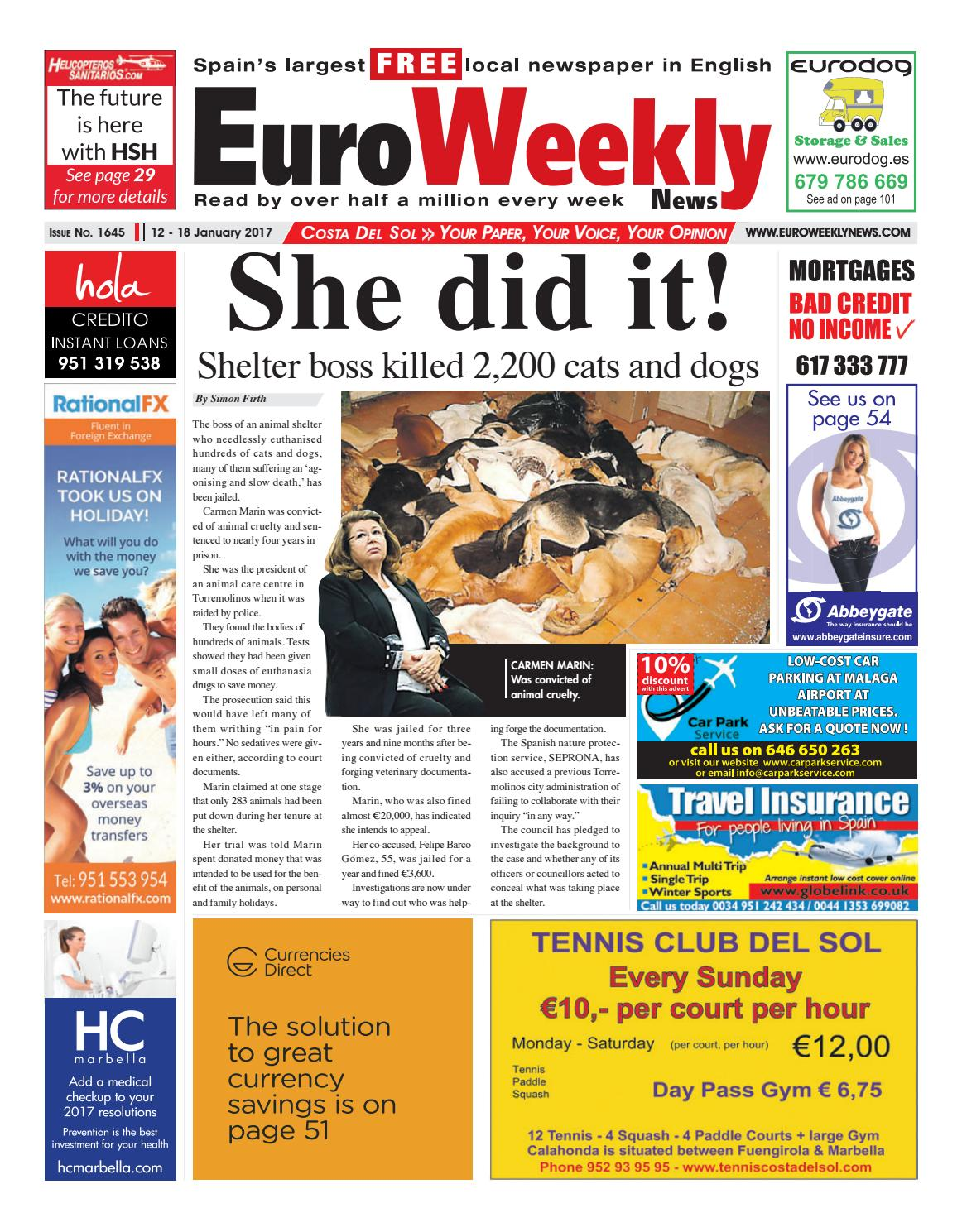 e73dca5be Euro Weekly News - Costa del Sol 12 - 18 January 2017 Issue 1645 by Euro  Weekly News Media S.A. - issuu