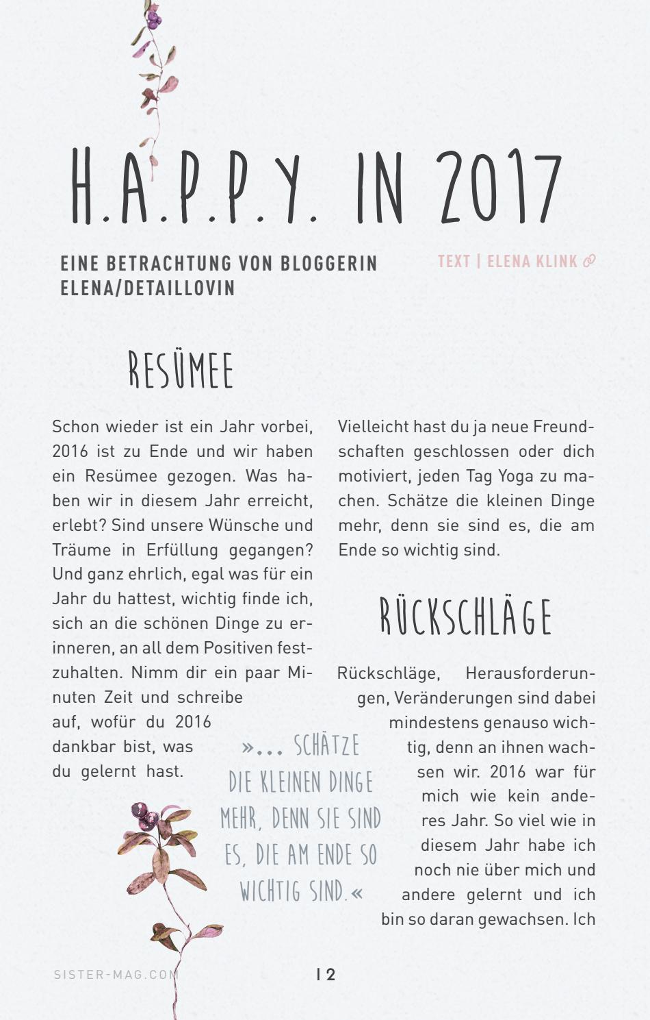 Sistermag Special Happy Challenge 2017 By Sistermag Issuu