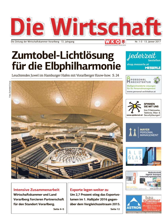 Die Wirtschaft - Nr. 1 bis 3 vom 13. Jänner 2017 by Wirtschaftskammer  Vorarlberg - issuu