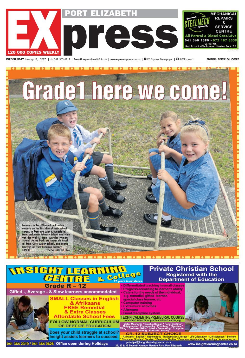 Pe express 11 january 2017 by pe express issuu for Extra mural courses