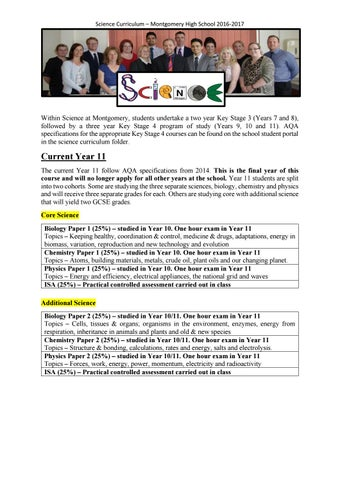 Science Curriculum 2016-17 by Schudio - issuu