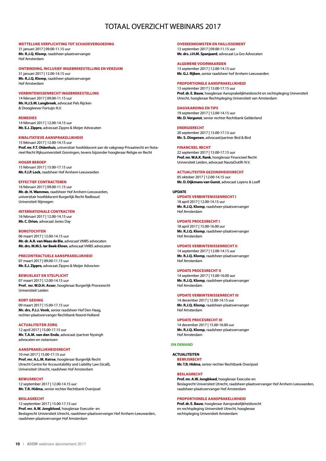 Corporate Webinars Abonnement 2017 By Academie Voor De