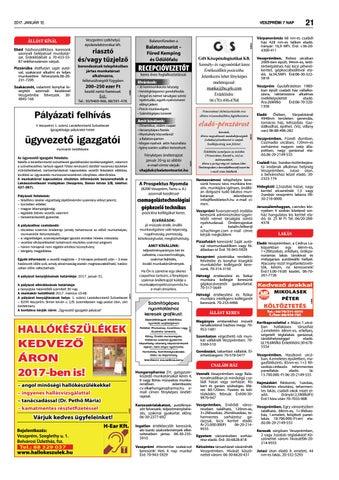 Veszprémi 7 Nap - 2017. 01. 12. by Maraton Lapcsoport Kft. - issuu 6cbeb12c27