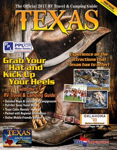 2017 RV Travel Camping Guide To Texas By AGS Advertising