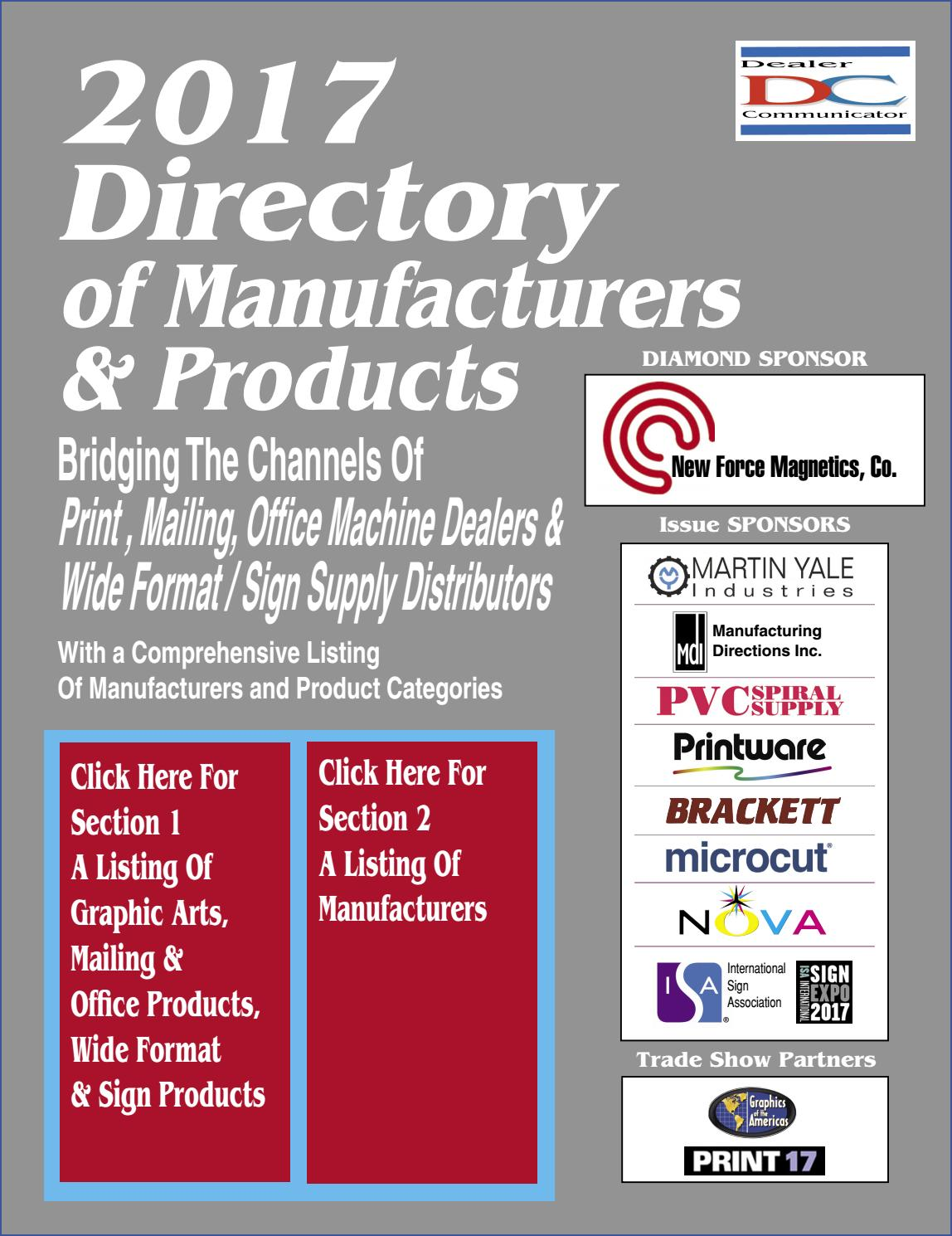 2017 Directory of Manufacturers & Products by Fichera Publications - issuu