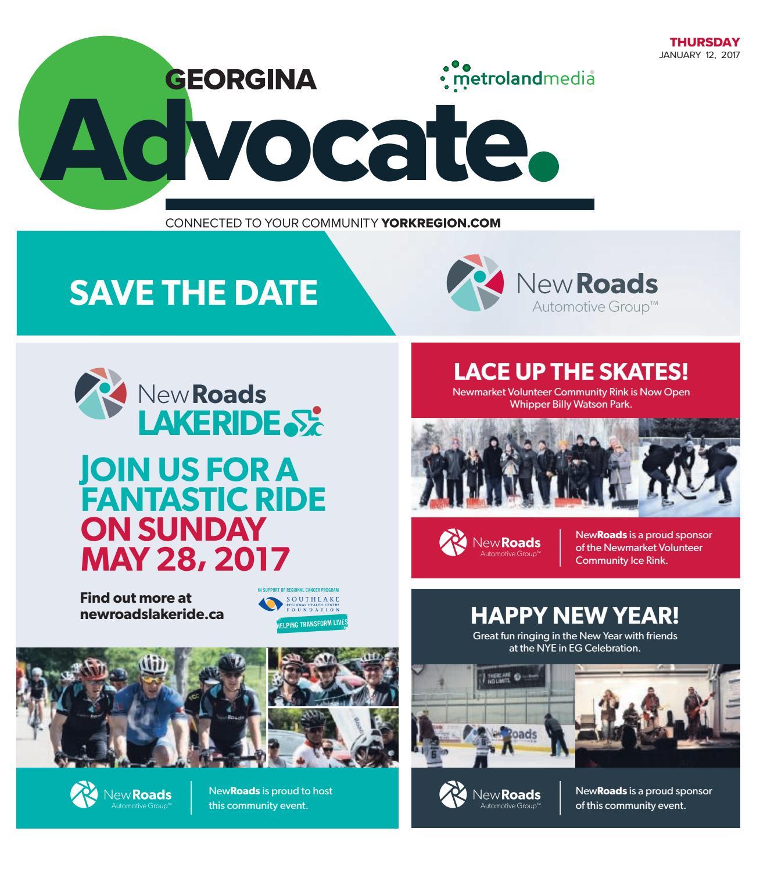 Georgina Advocate, January 12, 2017 by Georgina Advocate - issuu