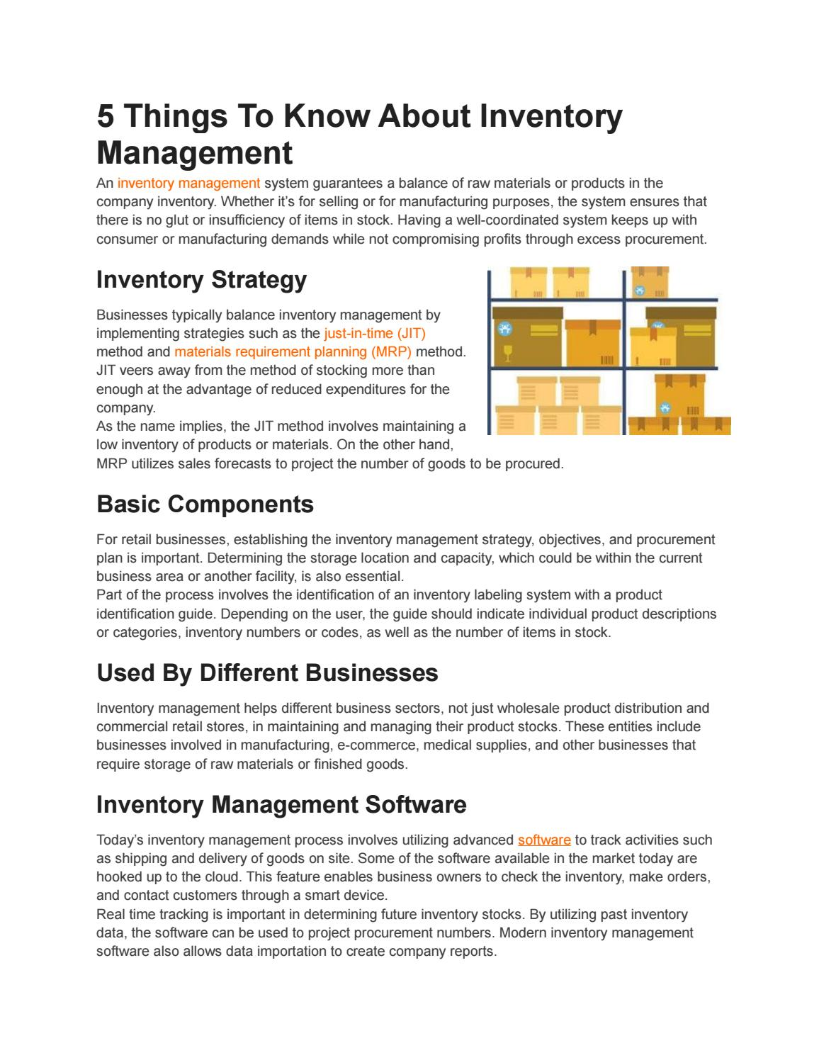 5 Things To Know About Inventory Management by Zenventory - issuu