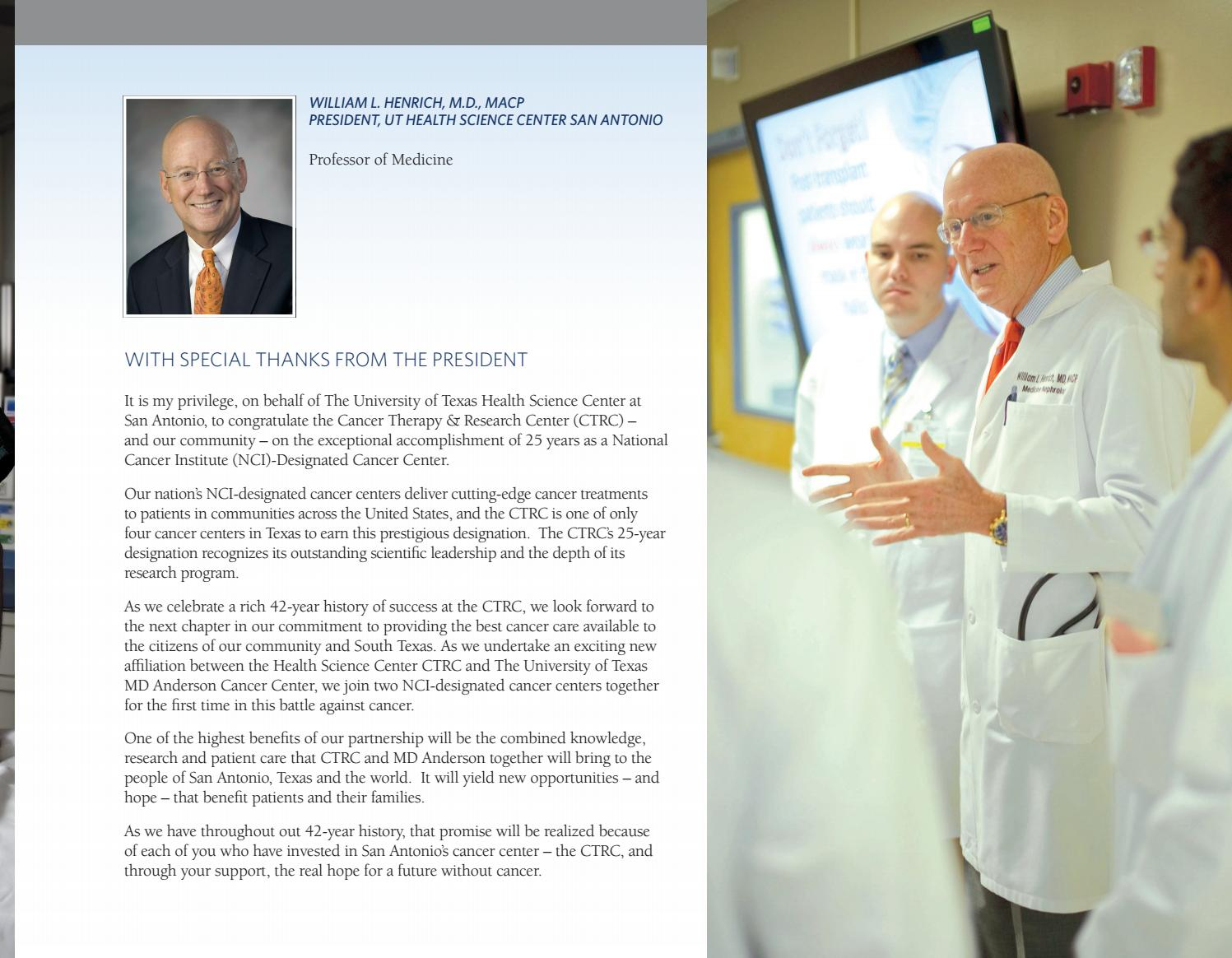 Cancer Therapy & Research Center (CTRC) Annual Report 2016