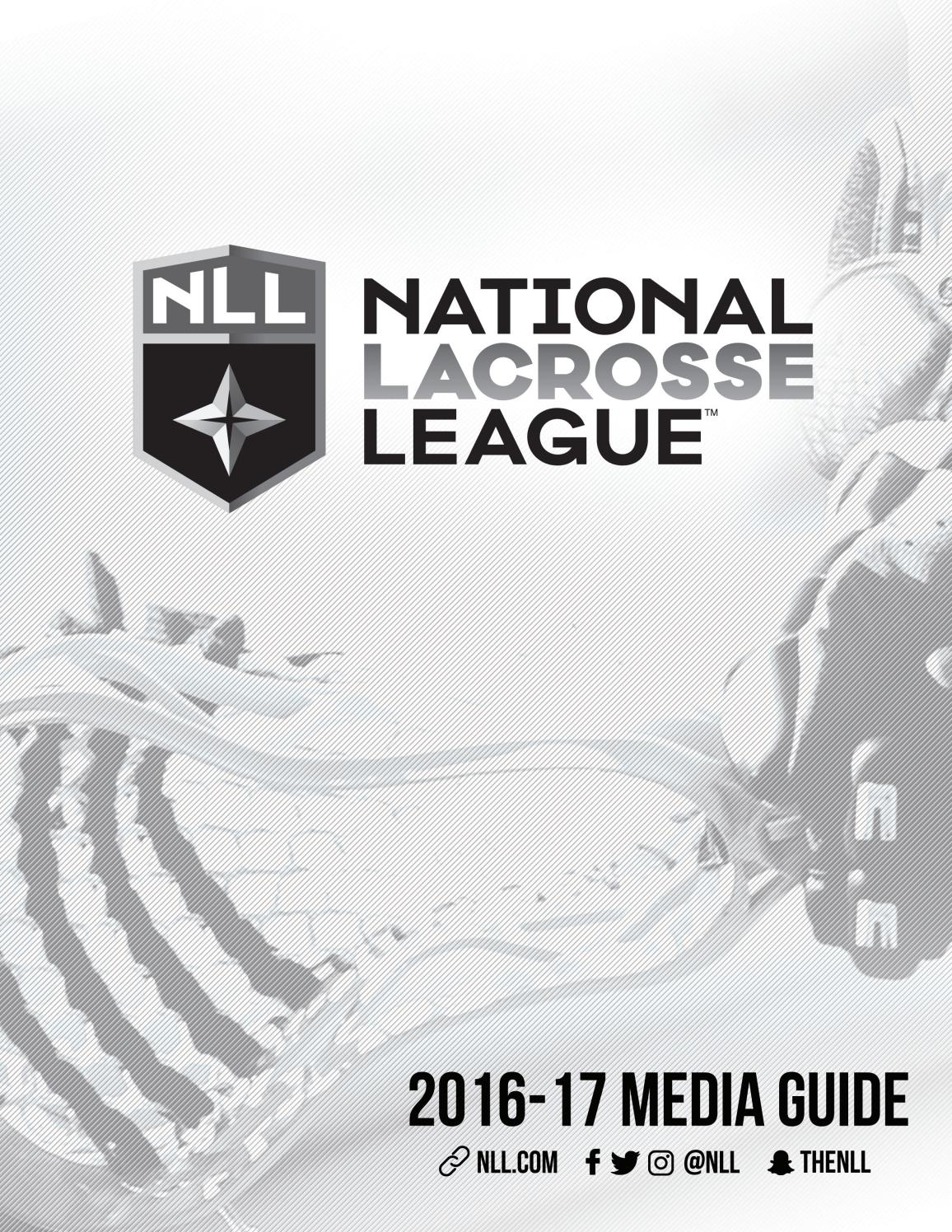 2017 National Lacrosse League Media Guide By Eric Rhew