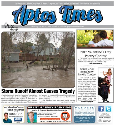 Aptos Times January 15 2017 By Times Publishing Group