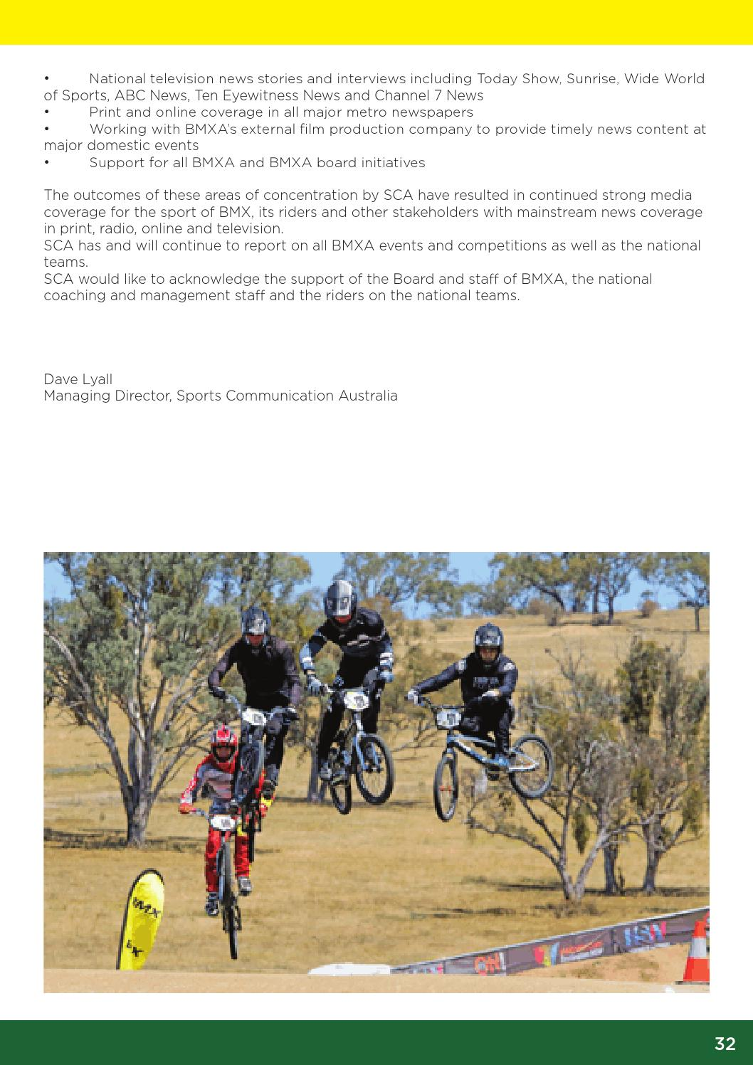 BMX Australia 2016 Annual Report by BMX Australia - issuu
