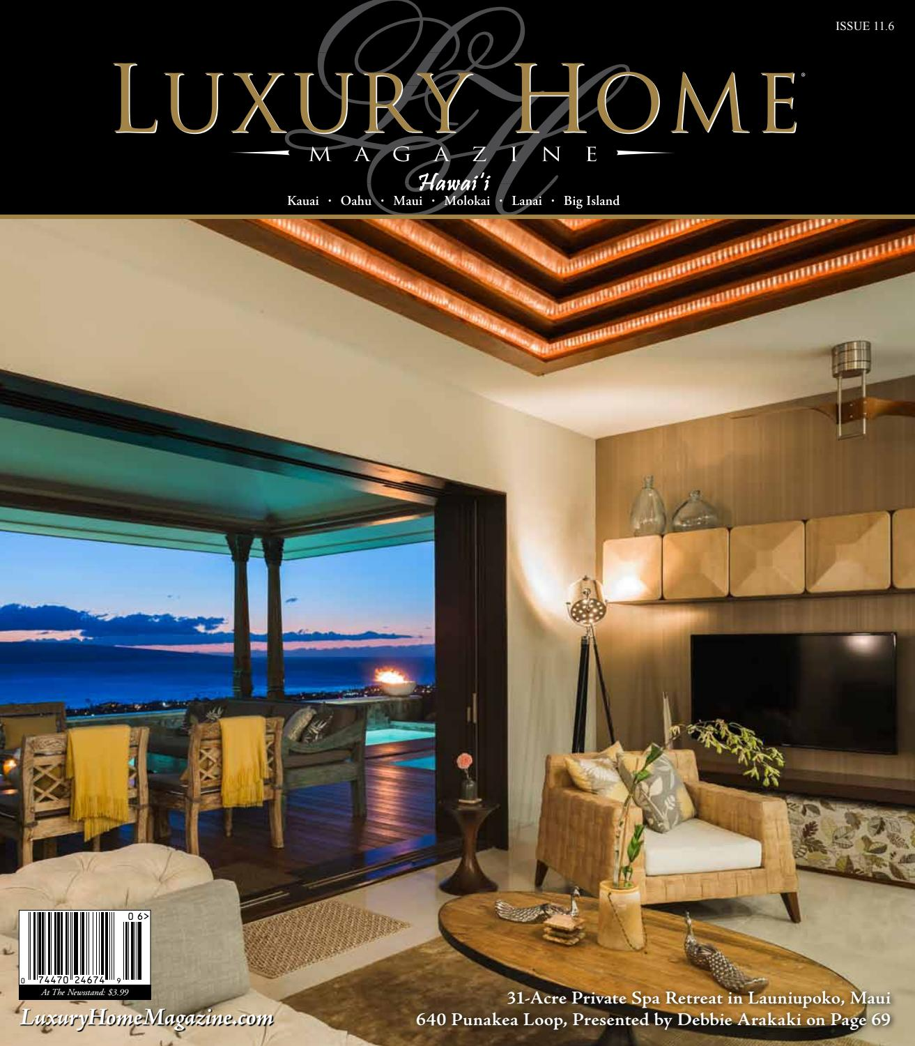 luxury home magazine hawaii issue 11 6 by luxury home magazine issuu