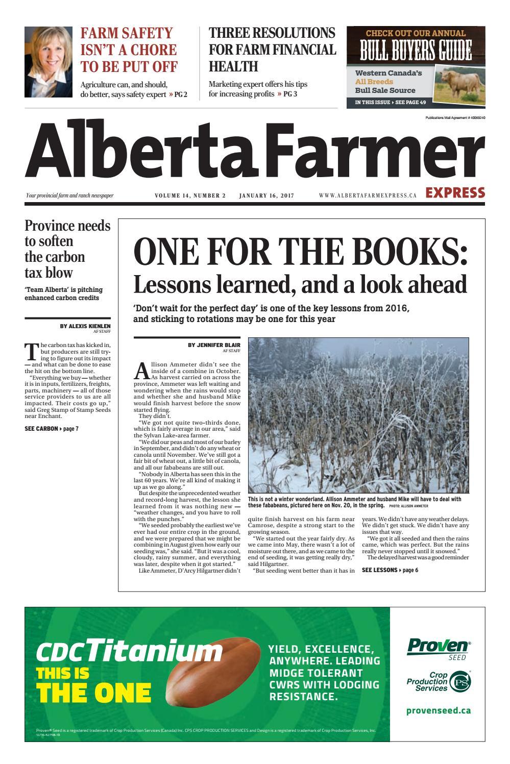 Alberta Farmer Express By Farm Business Communications Issuu