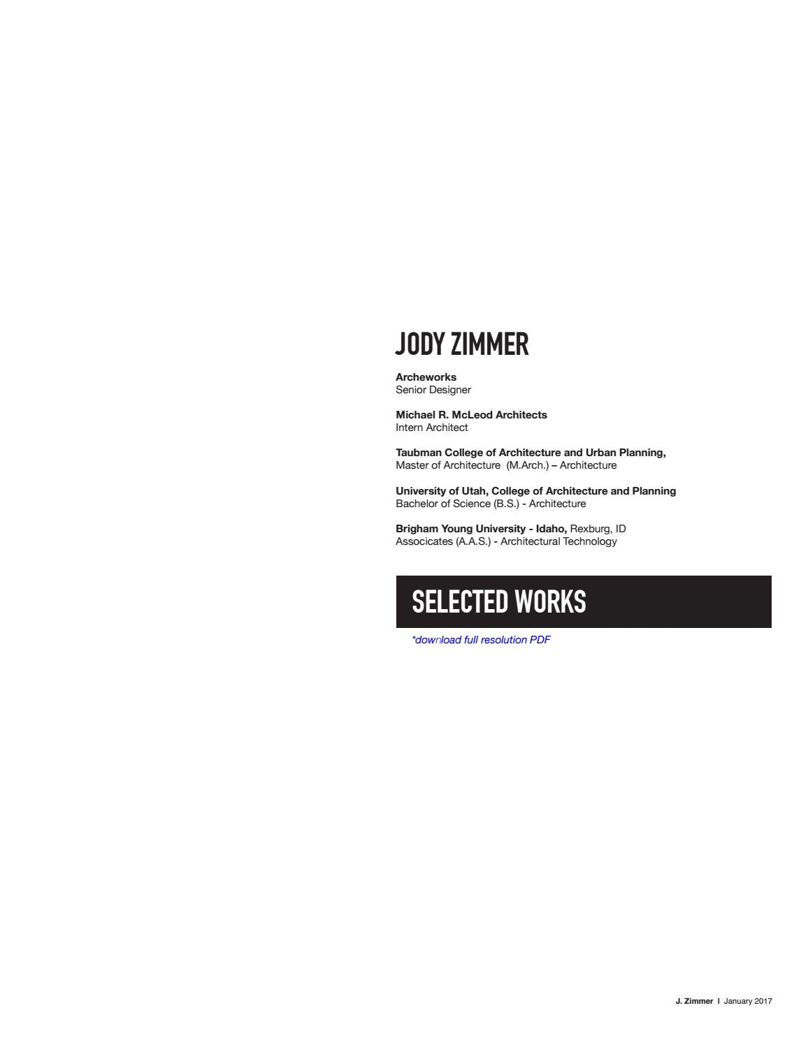 Jody Zimmer | Selected Works by ARCHEWORKS - issuu