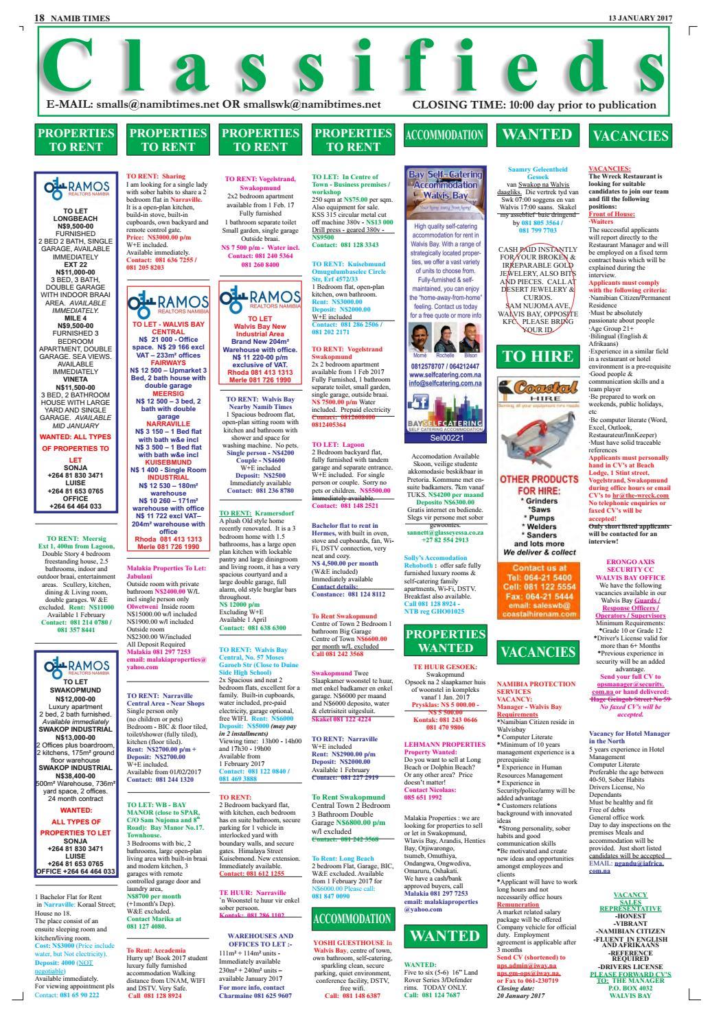 13 january namib times e edition by Namib Times Virtual - issuu