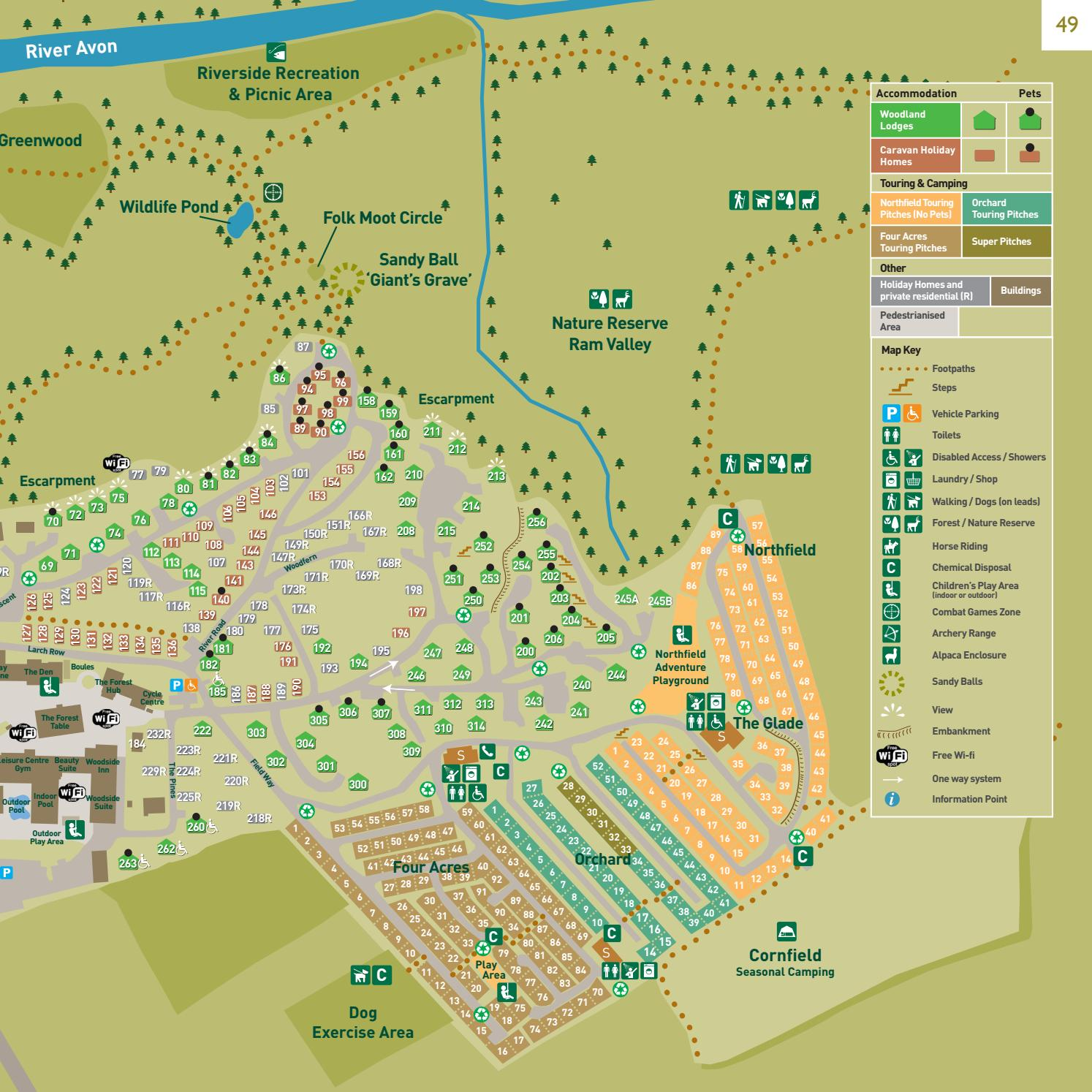 Page Map Site: Sandy Balls Holiday Village 2017 Brochure By Away Resorts