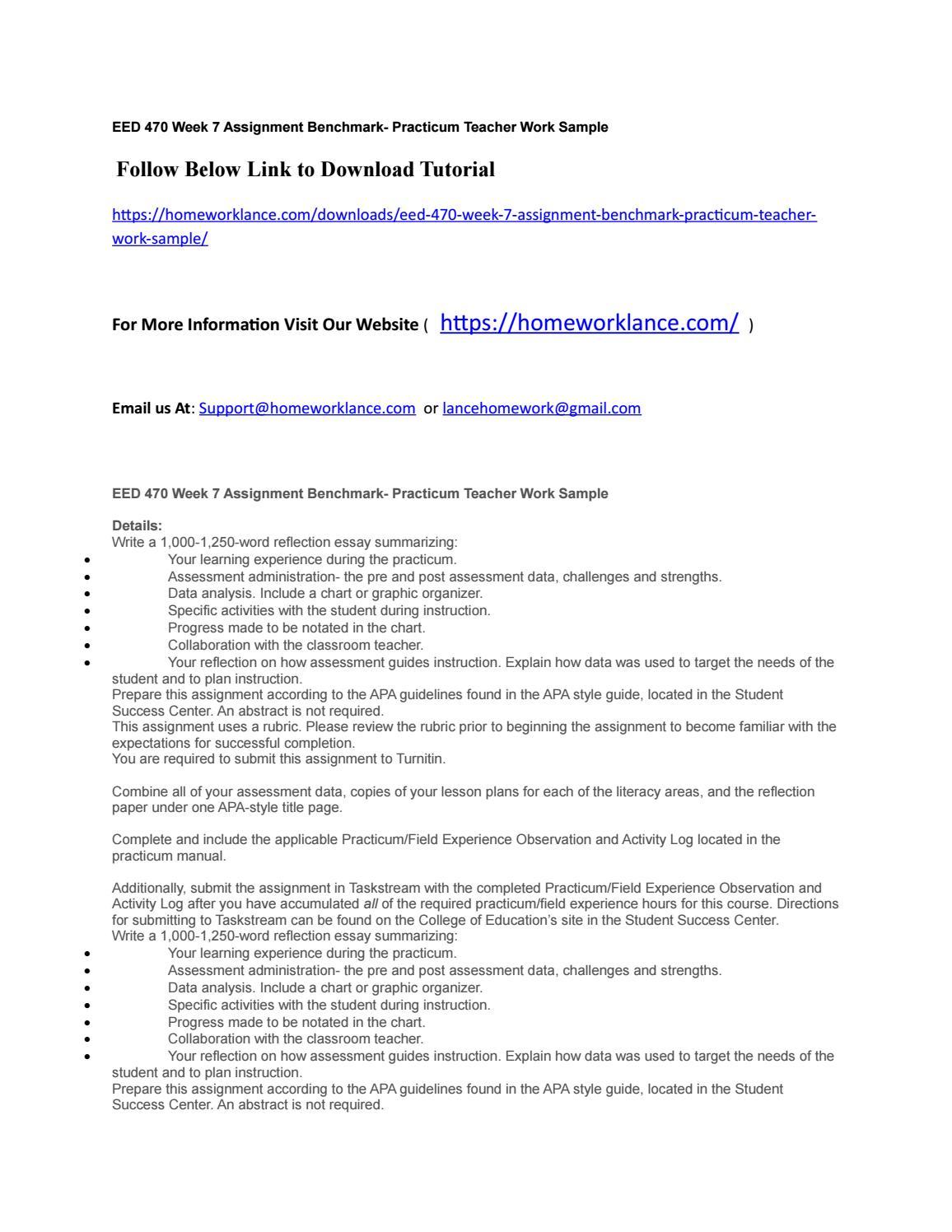 Practicum reflection paper | Term paper Example