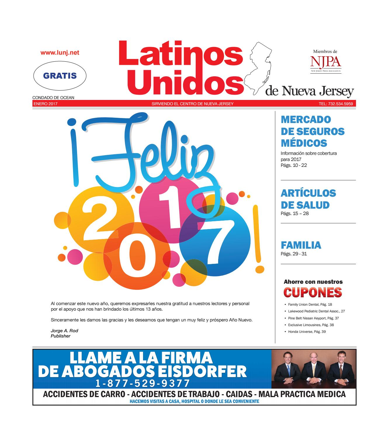 Ocean County Enero/January 2017 by Latinos Unidos de NJ - issuu