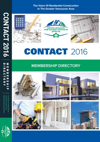 Greater Vancouver Home Builders Association Directory - 2016